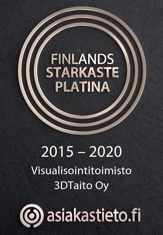 Finlands Starkaste Platina Asiakastieto Logo